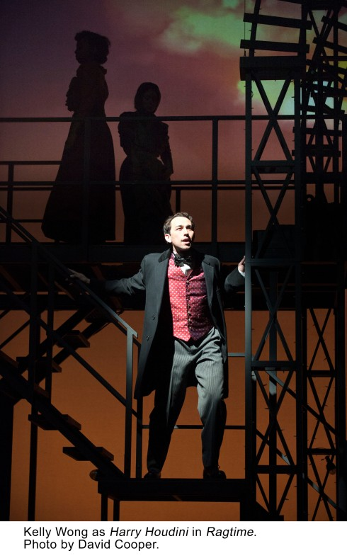 Kelly Wong as Harry Houdini in Ragtime. Photo by David Cooper.